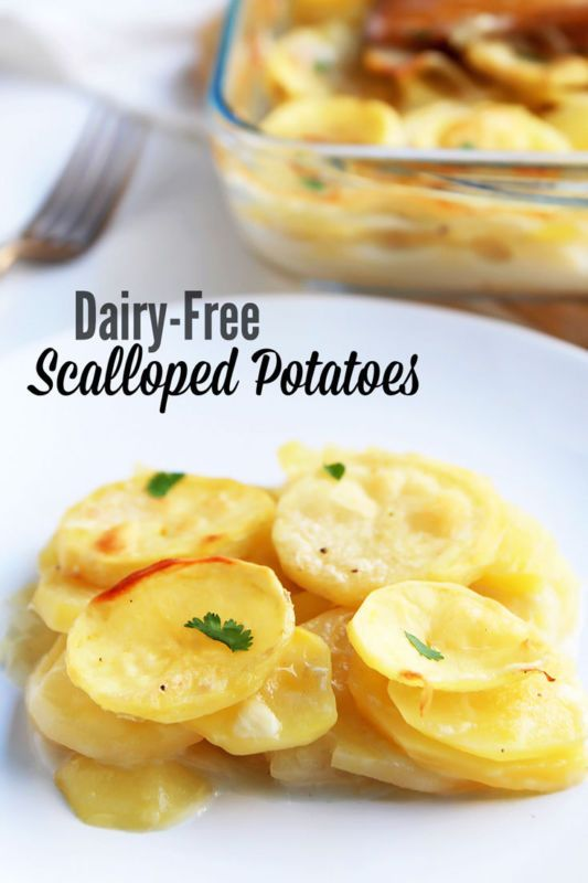 These creamy scalloped potatoes with crispy top layer are dairy free ...