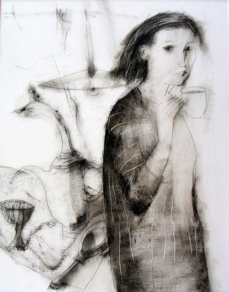 Marina Povalishina  www.maraart.com: Artificial Intelligence, Oriental Art, Drawing Addiction B W, Drawing Humans, Art Impressionable