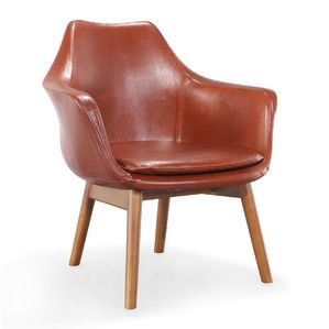 """Cronkite Leather Arm Chair $400 at Joss and Main with free shipping! Overall: 31.5"""" H x 29.3"""" W x 24.4"""" D"""