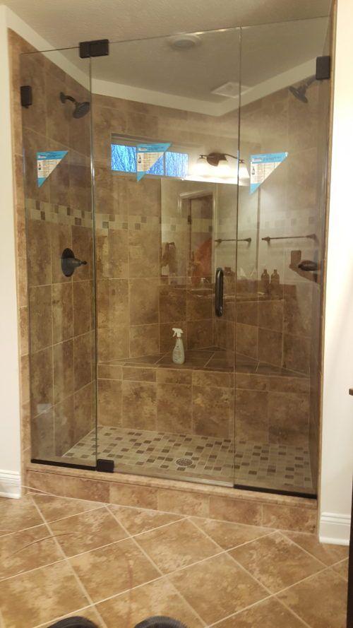 Glass To Glass Pivot Hinge Door With Oil Rubbed Bronze Hardware Oil Rubbed Bronze Hardware Oil Rubbed Bronze Shower Doors