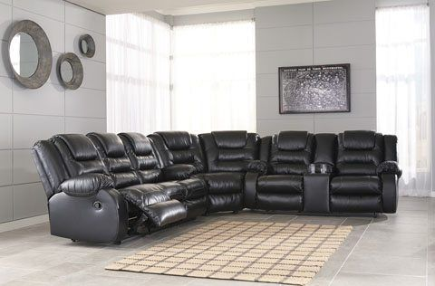 Ashley S Furniture 3 Piece Leather Reclining Sofa Sectional 40