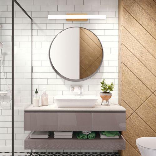 Modern Style Wooden Liner Led Vanity Light Bath Light Modern Master Bathroom Led Vanity Lights Modern Bathroom Lighting Contemporary bathroom light fixtures