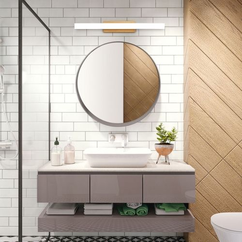 Modern Style Wooden Liner Led Vanity Light Bath Light Modern Bathroom Lighting Modern Master Bathroom Modern Bathroom Light Fixtures