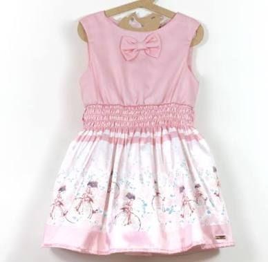 Resultado de imagem para vestido infantil estampado de bailarina