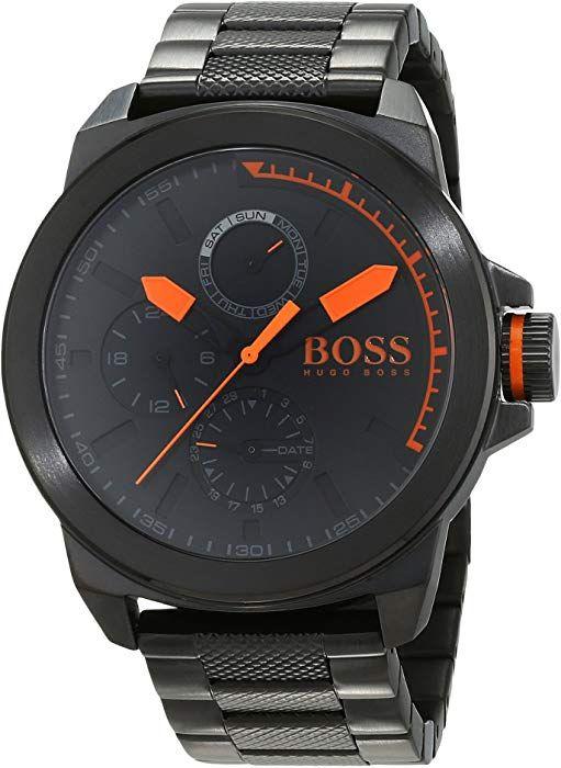 Hugo Boss Orange New York Men S Quartz Multi Dial Black Stainless Steel Bracelet 1513157 Amazon De Uhren Armbanduhr Edelstahl Armband Tommy Hilfiger Uhren
