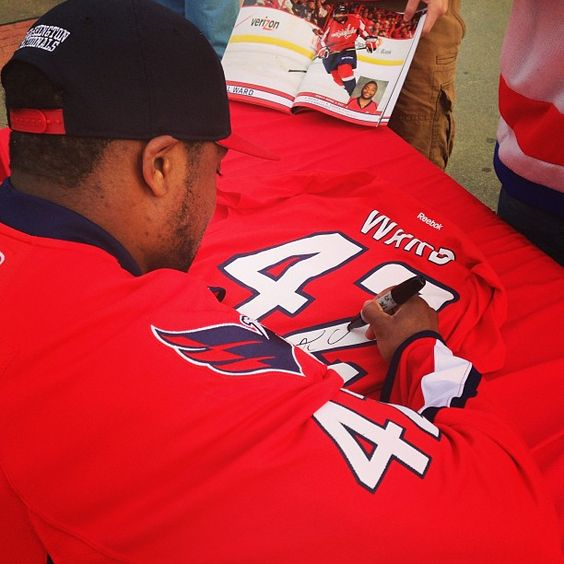 Photo by washingtoncaps - Joel Ward signing autographs for #Caps Season Ticket Holders at Six Flags.