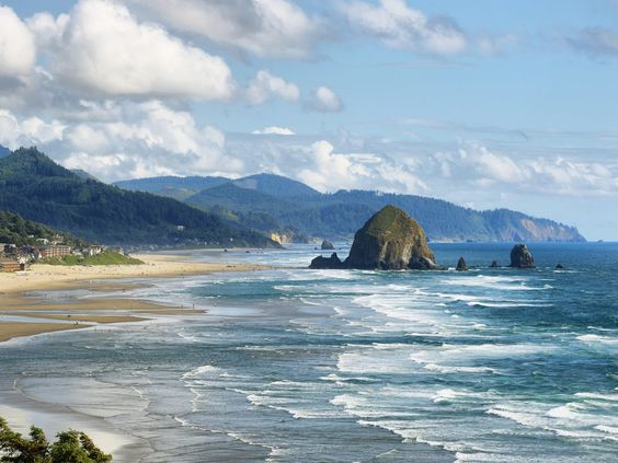 Cannon Beach, Oregon If Seaside is Oregon's Atlantic City (think packed boardwalks and kitschy souvenir shops), then Cannon Beach, just 15 minutes south, is its Cape Cod. Charming shingled shops line the Main Street.