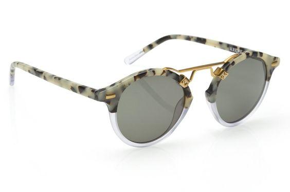 St. Louis Matte Au Lait Tortoise Clear Sunglasses Angle View