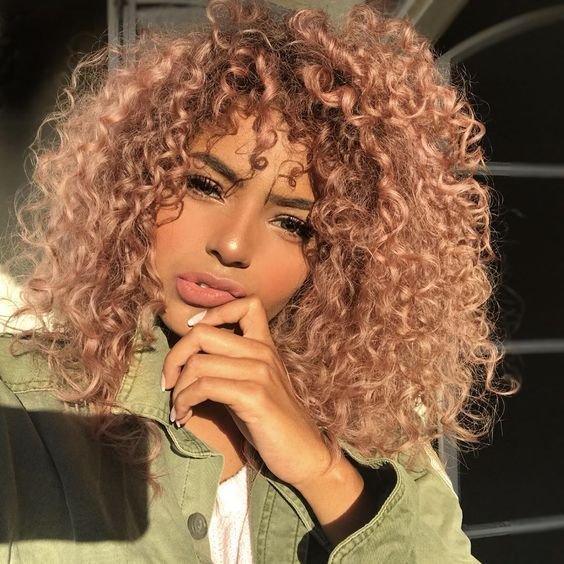 Hairstyles And Hair Color Proposals For Curly Girls Haircolor Hairstyles Curlyhair Curlyhairstyles Cur Dyed Curly Hair Hair Styles Natural Hair Styles