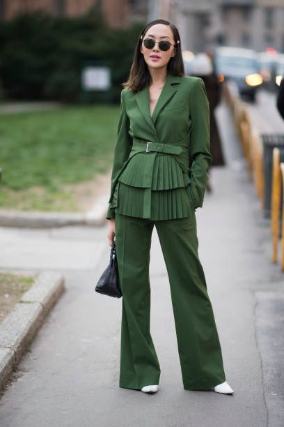 Chriselle Lim seen after the Alberta Feretti show during Milan Fashion Week Fall/Winter 2018/19 on February 21 2018 in Milan Italy