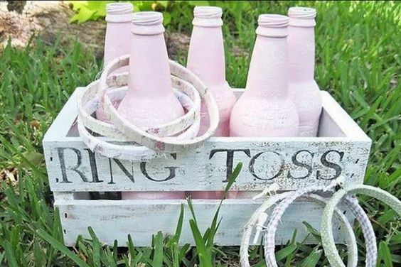 outdoor wedding games ideas knock bottles over