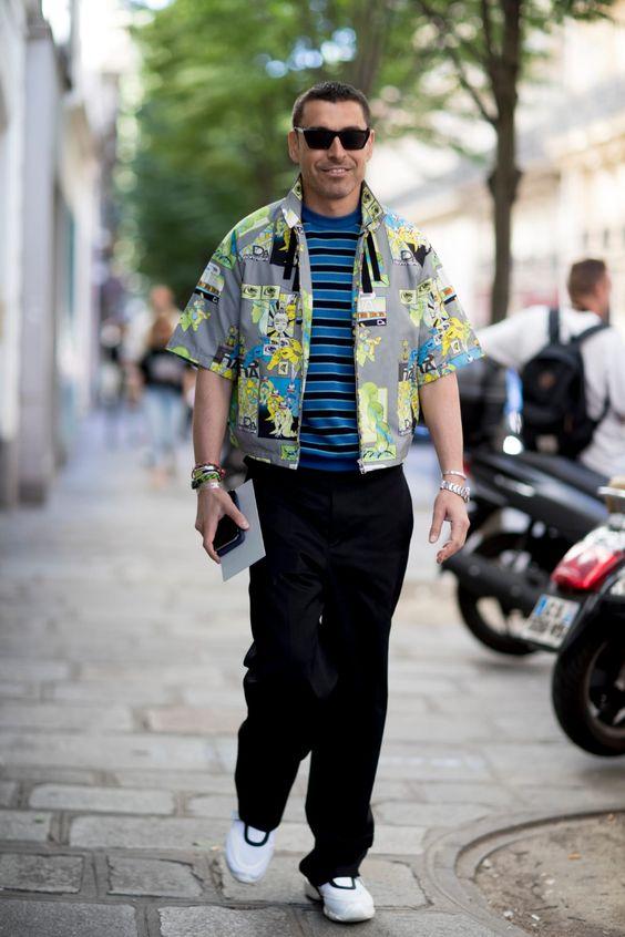 チンピラ海外メンズコーデSuits With Sneakers Was the Outfit of Choice at Paris Fashion Week Men's - Fashionista