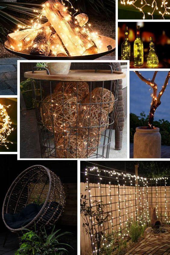 26 Awesome Diy Fairy Light Decor Ideas For Your House For 2020 Fairy Lights Decor Outdoor Fairy Lights Outdoor Patio Lights