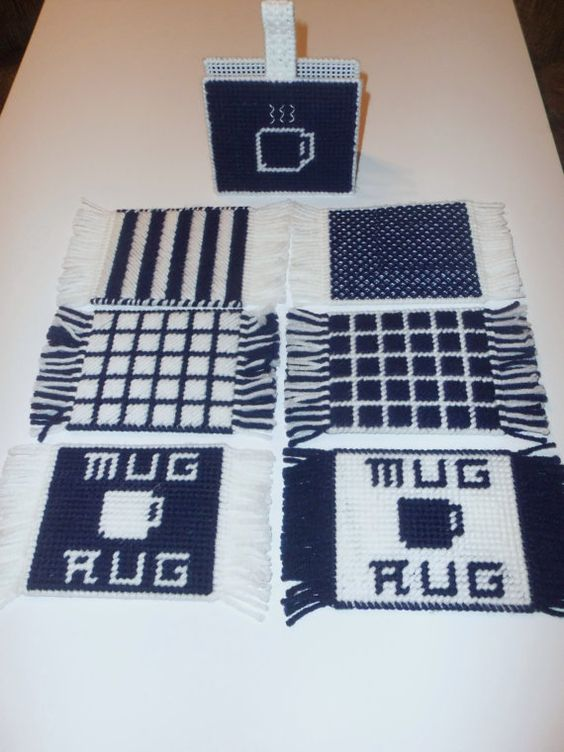 Mug Rugs Set Of 6 With Holder By Treasuresbytan On Etsy