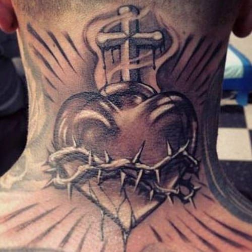 Heart Tattoos For Men Best Designs And Ideas Of 2019 Sacred Heart Tattoos Broken Heart Tattoo Heart Tattoo
