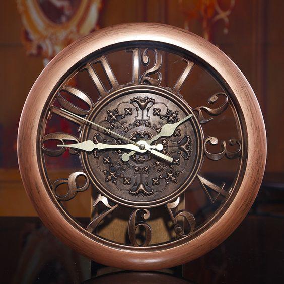Pas cher Meilleure qualité! Vintage circulaire horloge murale salon muette quartz montres Design accueil décoration moderne relogio de parede, Acheter  Horloges murales de qualité directement des fournisseurs de Chine:               Marque: future                             Nom du produit: Vintage Horloge murale