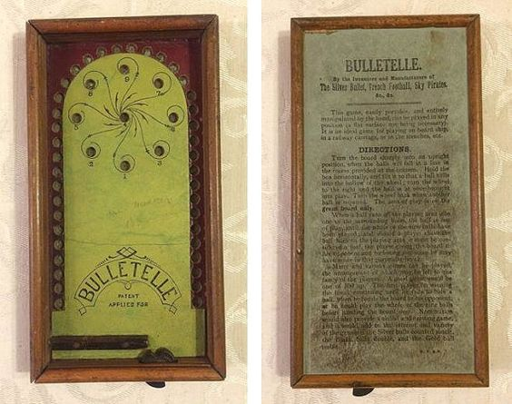 Antique Bulletelle Small Game Piece Antique Gaming by tinprincess