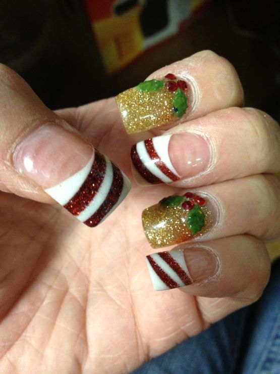 christmas nail design - Google Search