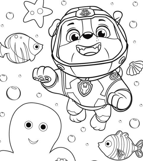 Paw Patrol Rocky Skye And Zuma Coloring Page Free Coloring Pages Online Paw Patrol Coloring Pages Paw Patrol Coloring Dance Coloring Pages