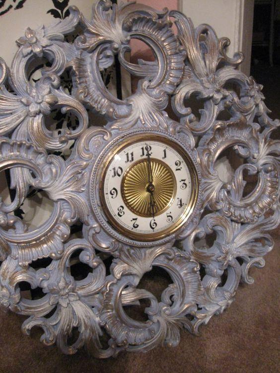 THANKFUL 20 OFF SALE Vintage Syroco  Wall Clock My by dmdesign2012, $115.00