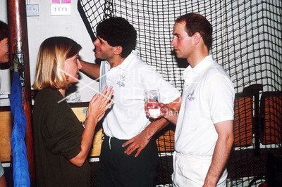 Prince Edward and Sophie Rhys Jones meeting in 1993.  (How cool to have a photo of when you MET your future spouse!)