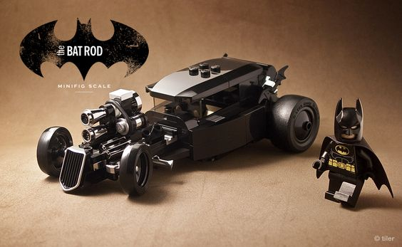 https://flic.kr/p/bV6Wkf | The 'other' car  –  minifig scale lego Batmobile | A little hardcore added to this 'other' car. Up to now, these are by far my favorite Batmobiles.  Please zoom the picture for maximum effect.  –   Front / Side / Cockpit