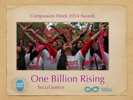 Compassion Week Award for Social Justice to One Billion Rising