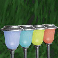 Solar Landscape Lights. Solar Color-Changing Chalice Path Light