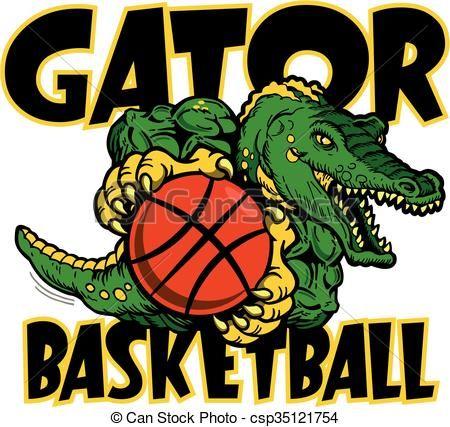 Gator Basketball Clip Art