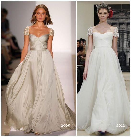 Reem Acra Sparkle Cap Sleeve Wedding Dress - { 1920-1930s Wedding ...