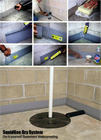 Basement waterproofing wet basement and basements on for Dry basement