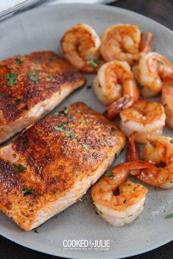 Cajun Salmon and Shrimp
