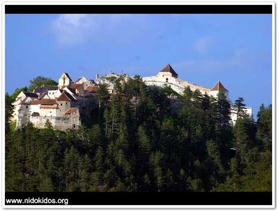 ROMANIA-Rasnov,Cetatea taraneasca