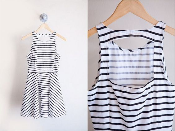 DIY cutout back dress tutorial - use your favorite pattern! Do it with any full back pattern!