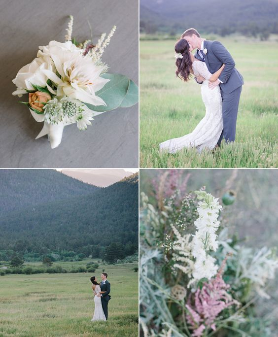 Location Scout – Rocky Mountain High | Hearts Aflutter by Flutter Magazine Colorado Wedding. Blush and white wedding. Soft, eucalyptus, mountains.