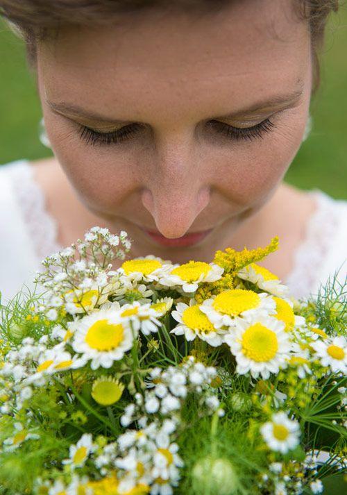 Hochzeitsstrauß gelb weiß