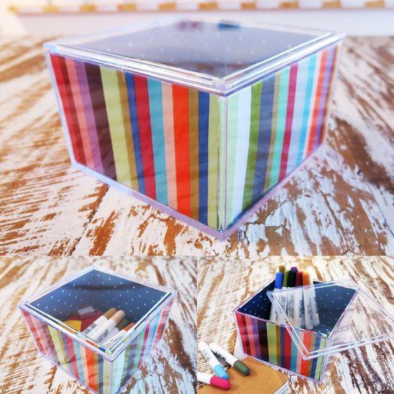 Caixinha de acrílico com fitas (clique na foto e confira)