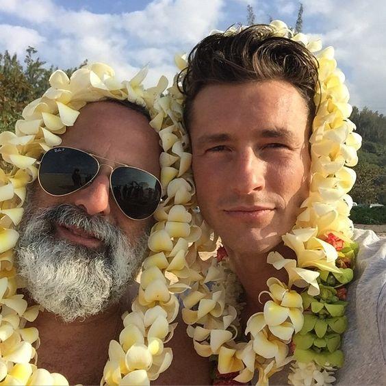 "Parker Gregory: "" #tbt back to #Hawaii w/ @luisthestylist #bluesteel #latigre #Ferrari #lei #Hawaii #macys #model #thelook #goodtimes #setlife #thegoodlife #enjoylife"" - May 8, 2015"