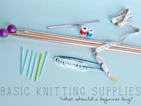 Basic Knitting Supplies for Beginners - Ellie's Pick from THE Pin It Party #38 on www.creative-geekery.com