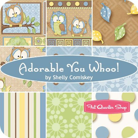 Adorable You Whoo! Fat Quarter Bundle Shelly Comiskey for Henry Glass Fabrics