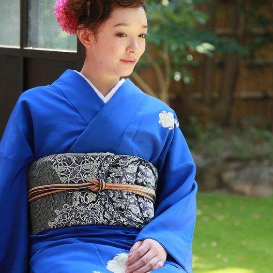 ロイヤルブルー Royal Blue:野田繁正 京友禅 Shigemasa Noda Kyo Yuzen