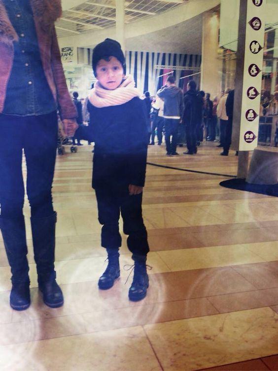 Shopping for fashion boy all in black