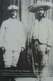 Generales Alvaro Obregon y Benjamin Hill