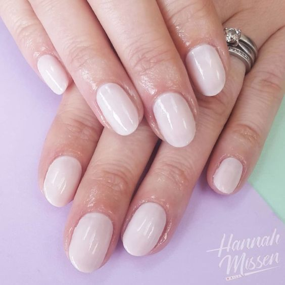 Squaoval nail shape for big hands and long fingers