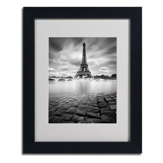 Eiffel Tower Study I by Moises Levy Matted Framed Photographic Print