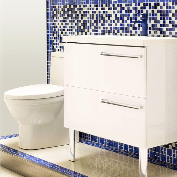 Baños Modernos Homecenter:Quieres renovar tu baño? Comienza con los muebles o kits que ayuden