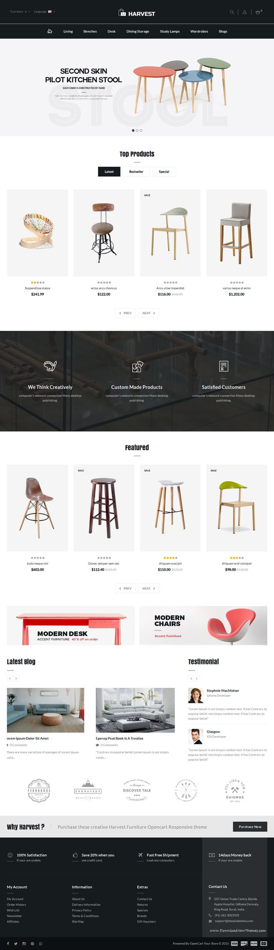 harvest opencart responsive theme is specially designed for furniture shop ecommerce website template best furniture websites design