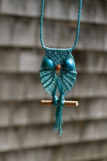 Learn to make a macrame owl necklace pinteres for Learn to draw jewelry