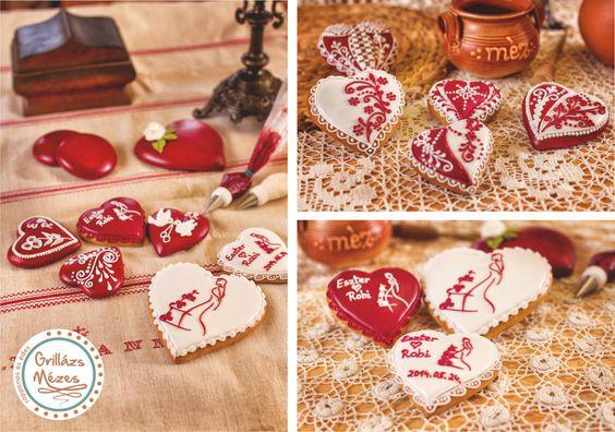 Piros-fehér mézesek Forrás:  Menyasszony Grafika -Internet