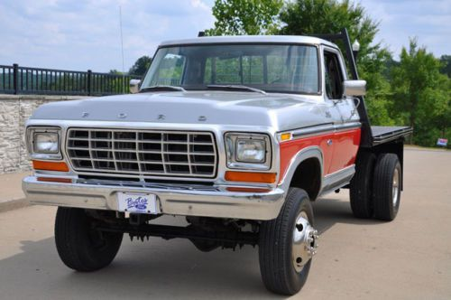 1979 Ford F250 4x4 Flatbed With Dual Rear Wheels Image 3 Ford F250 Classic Ford Trucks Ford Trucks